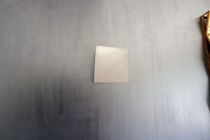 Wohnzimmerwand - Cortenstahl Optik