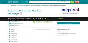 Purpurrot - Malermeister Christian Steinberger - Maler und Anstreicher - Treibach-Althofen - gutgemacht